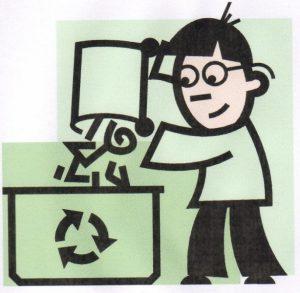 poubelles sur la voie publique
